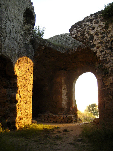 Sunset at Anthousa castle