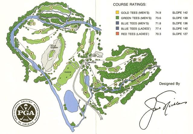 Valhalla Golf Club Scorecard Valhalla Golf Club Louisville