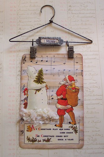 Santa and Snowman Hanging Collage