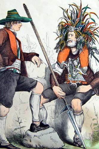 Illustration of men from Tyrol