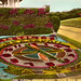 Hand tinted card of Hastings' floral clock