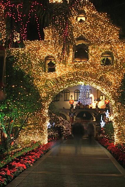 Christmas Lights Mission Inn Riverside Other Shots