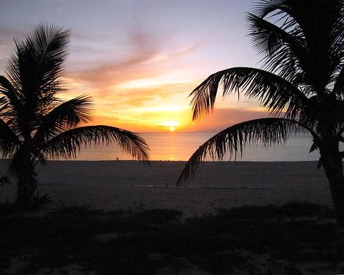 Radio beach sunset