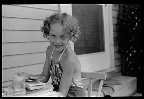 No Known Restrictions: Child of homesteader, Tygart Valley Homesteads, West Virginia by John Vachon, 1939 (LOC)