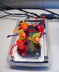 This mini monsters are having a mini dance party in the only warm place in my office.