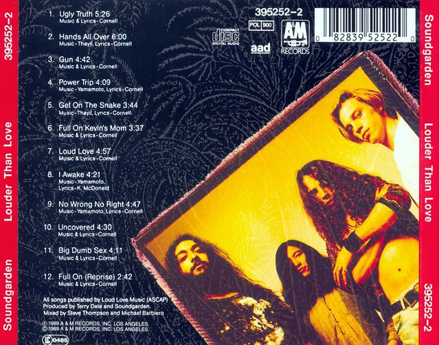 soundgarden louder than love-1997-cd-back | Flickr - Photo ...