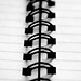 Black and White Spiral-Bound Notebook by incurable_hippie