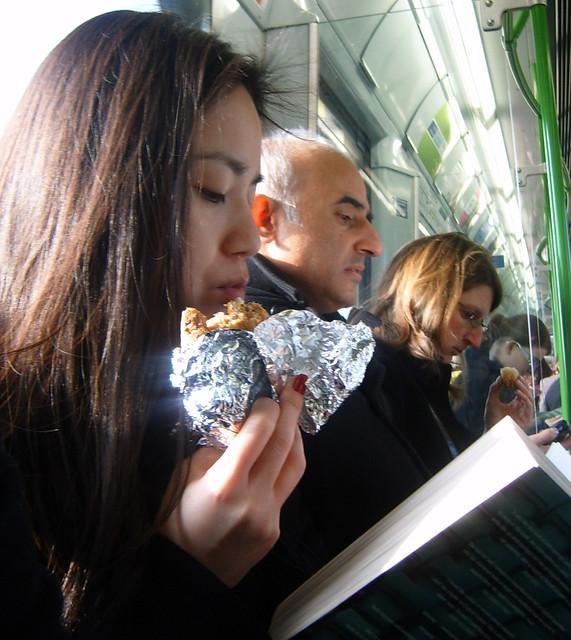 Eating on the London Underground