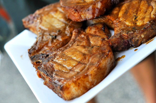 Sweet Mustard Pork Chops