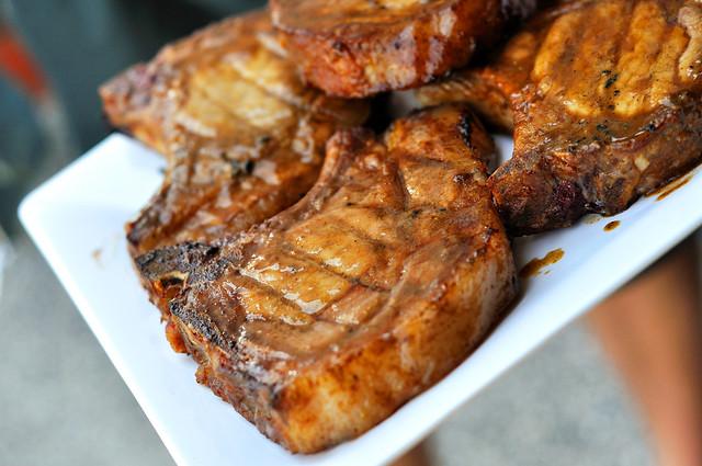 Sweet Mustard Pork Chops