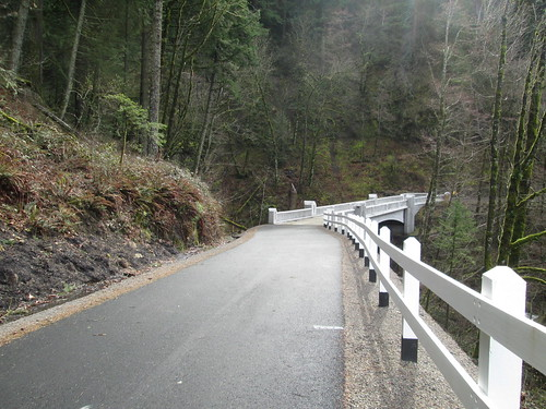 The new bridge on the new trail