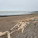 Lancing beach with timber by Jane Dallaway