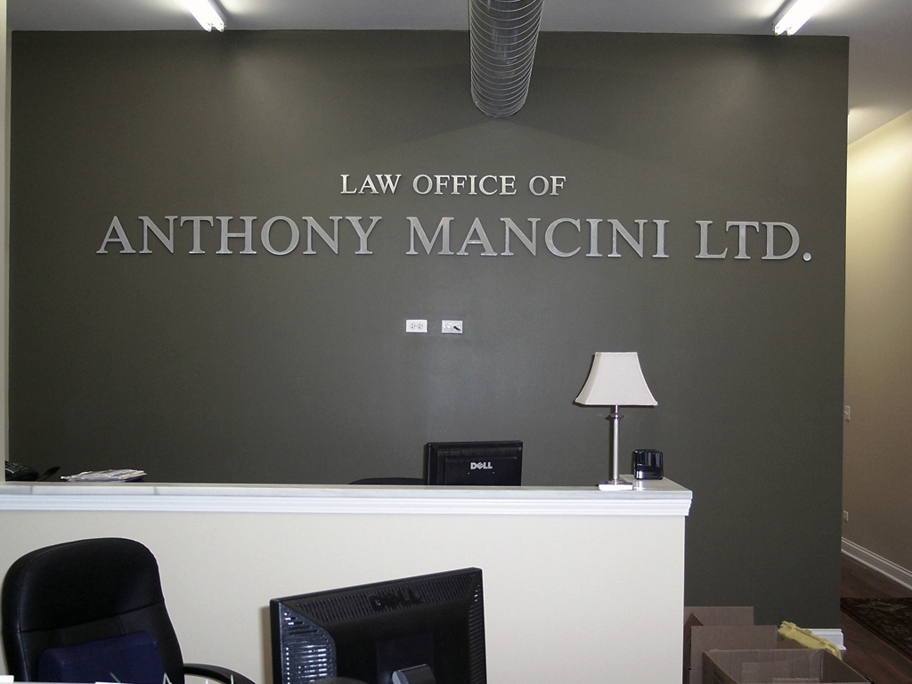 custom logo cut aluminum letters for law office
