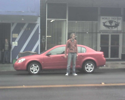 sdbrown with red car