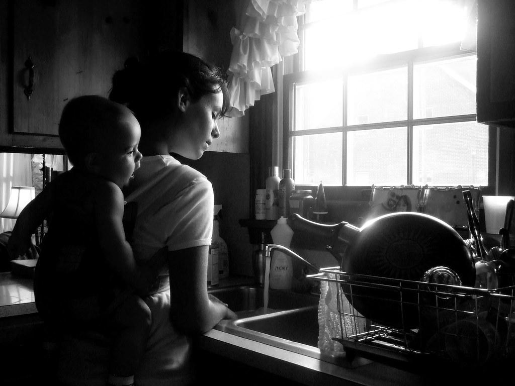 Babywearing in a Mei Tai Carrier