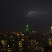 Electric streaks, above Empire State Building