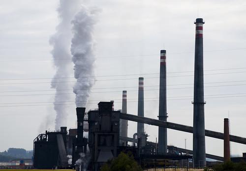 Una fábrica de acero en Aviles