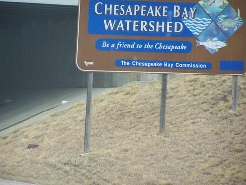Chesapeake Bay Watershed highway sign