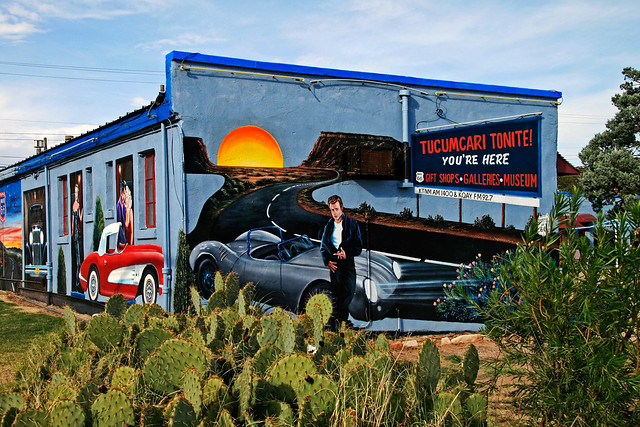 Route 66 murals tutcumcari explore danderson800 39 s for Route 66 mural