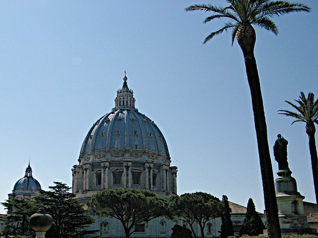 St. Peter's Basilica from Vatican Gardens