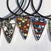 Collection of Mosaic Heart Pendants