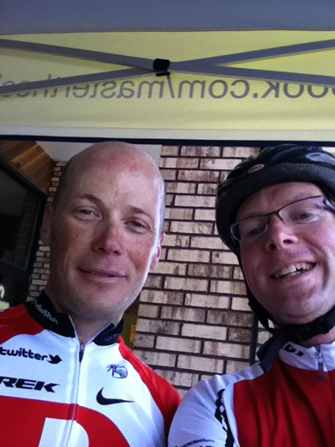 me and Chris Horner of Team RadioShack