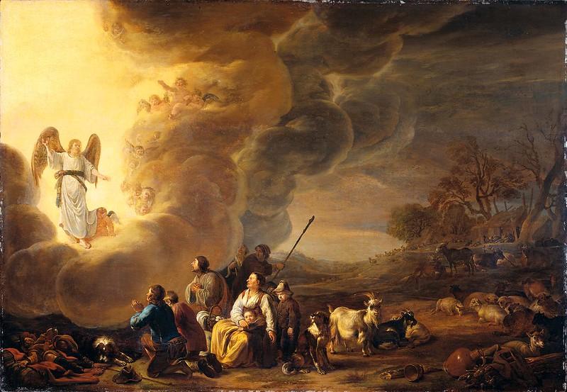 Cornelis Saftleven - De verkondiging aan de herders (c.1650)