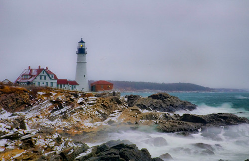 Portland Head Light in Snow