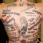 The House of Hair: Ultimate Rock, Metal, Glam, Hair Band Back Tattoo