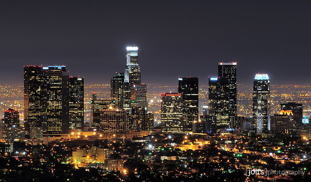 downtown los angeles skyline... by Joits