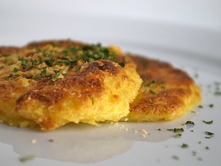 Potato cakes with Parmesan and parsley
