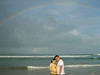 under d rainbow @ Kuta, good Sign