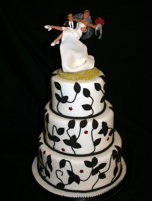Black White Wedding Another collaboration between Elizabeth Bonura of