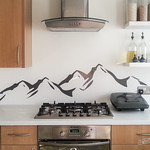 Mountain Range Decoration in the Kitchen