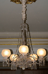 Chandelier Gasolier Prisms  Shades Portland Maine from