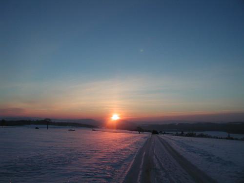 schnee sunrise germany baden sonnenaufgang schwarzwald weg blackforrest löffingen