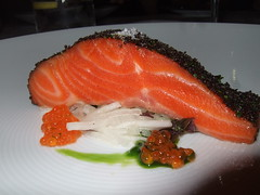 salmon, sashimi, fish, garnish, lox, food, dish, cuisine, smoked salmon,