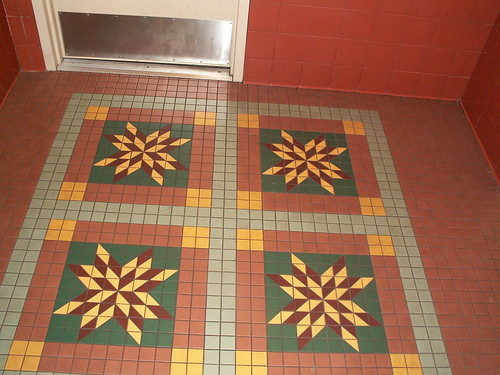 Pioneer Hall Restrooms - Floor Tile Detail - quilt pattern