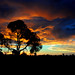 Sunset in Corunna, Australian outback