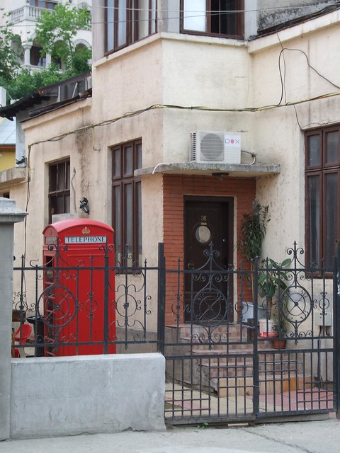 Red phone box spotted in Bucharest!