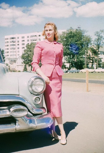 Pink Suit and a Confident Stride