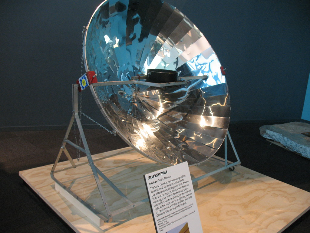 solar dish Parabolic solar cookers use a parabolic-shaped reflector to direct sunlight to a small area in order to generate heat for cooking the amount of food being cooked and the way in which the heat is used is generally dictated by the size of parabolic dish.
