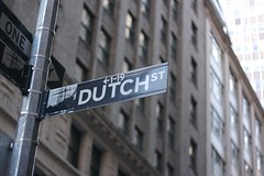 One of the many reminders of New York's Dutch roots