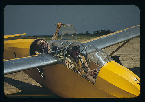 Marine lieutenants, glider pilots in training at Page Field, Parris Island, S.C.  (LOC)