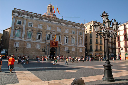 Sant Jaume Square, Barcelona, Spain