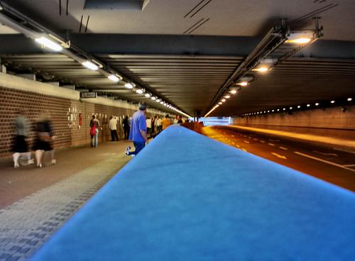 """""""Galerie"""" im Hafentunnel"""