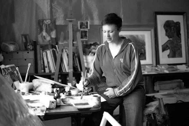 Artist at St Michael's Studio, Bridport