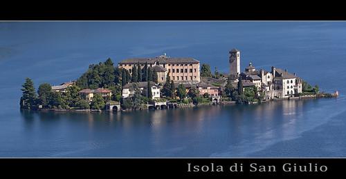 """Isola San Giulio, piemonte from the book """"Lamberto, Lamberto, Lamberto"""" by Gianni Rodari"""