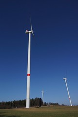 WeatherMaker posted a photo:	Quite impressive to see those power generators from close up ... an with a nacelle height of 138m ... they are biiig ...www.ostwind.de/unsere-projekte/wind/buechenbach.html