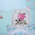 Country Escape Tilda rose patch card